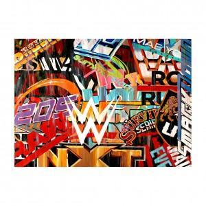 WWE Logos 11 x 14 Rob Schamberger Art Print
