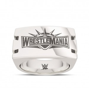 WrestleMania 35 Bixler Notched Ring in Sterling Silver
