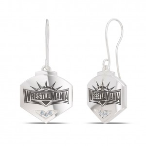WrestleMania 35 Bixler Dangle Earrings in Sterling Silver
