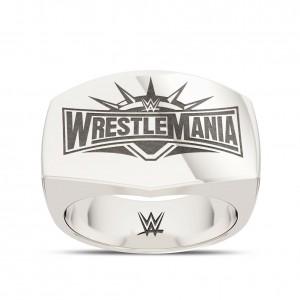 WrestleMania 35 Bixler Ring in Sterling Silver (sz.9 - 11)