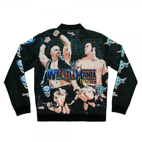 The Rock vs. Stone Cold WrestleMania X-Seven Chalk Line Jacket