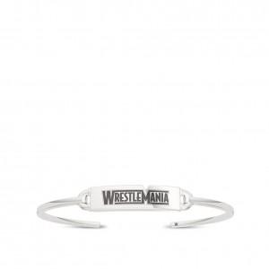 WrestleMania 35 Bixler Tag Cuff Bracelet in Sterling Silver