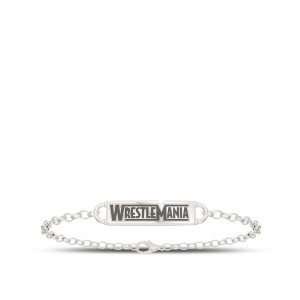 WrestleMania 35 Bixler Chain Cuff Bracelet in Sterling Silver