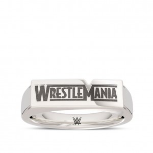 WrestleMania 35 Bixler Ring in Sterling Silver