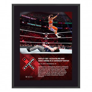 Bayley Extreme Rules 2019 10 x 13 Commemorative Plaque