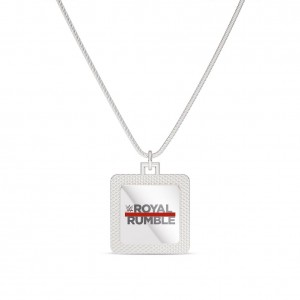 Royal Rumble Bixler Square Pendant in Sterling Silver