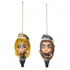 Trish Stratus & Lita Elf Ornament 2-Pack
