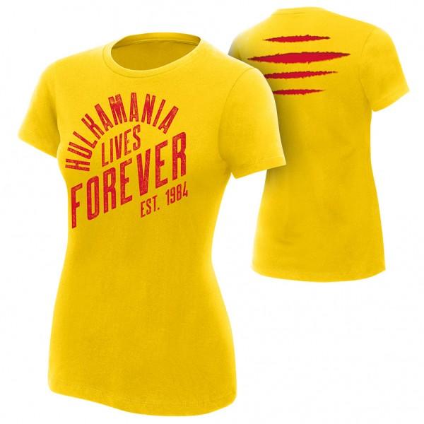 "Hulk Hogan ""Hulkamania Lives Forever"" Women's Authentic T-Shirt"