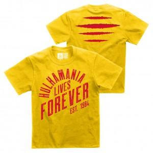 """Hulk Hogan """"Hulkamania Lives Forever"""" Youth Authentic T-Shirt"""