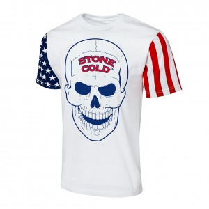 "Stone Cold Steve Austin ""Stars & Stripes"" Collection T-Shirt"