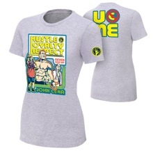 "John Cena ""Throwback"" Gray Women's Authentic T-Shirt"