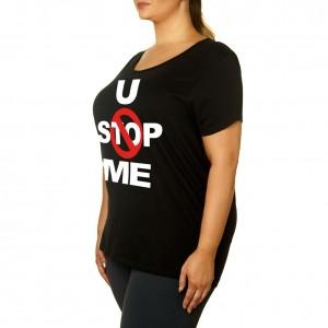 """John Cena """"U Can't Stop Me"""" Women's Curvy T-Shirt"""