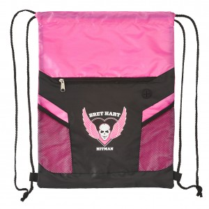 "Bret Hart ""Hitman"" Drawstring Bag"