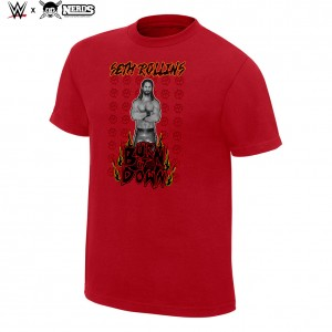 "Seth Rollins ""Burn it Down"" Neon Collection Graphic T-Shirt"