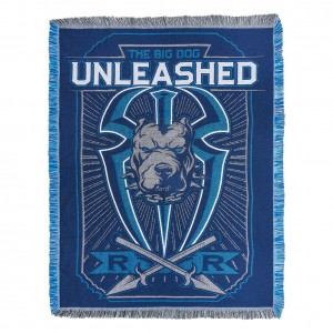 "Roman Reigns ""Big Dog Unleashed"" Tapestry Blanket"