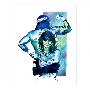 Macho Man & Miss Elizabeth 11 x 14 Rob Schamberger Art Print