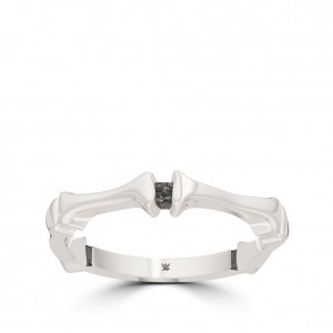 Alexa Bliss Bixler Bone Stackable Ring in Sterling Silver