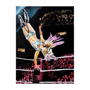 Alexa Bliss 2019 11 x 14 Rob Schamberger Art Print