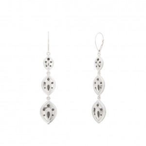 Charlotte Flair Bixler Drop Earrings in Sterling Silver