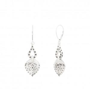 Charlotte Flair Bixler Dangle Earrings in Sterling Silver