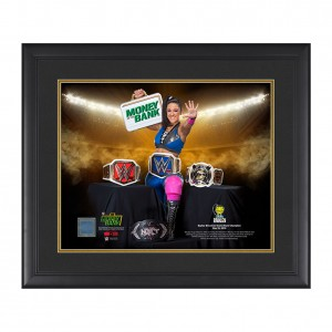 "Bayley ""Grand Slam Champion"" 20 x 24 Used Ring Canvas Plaque"
