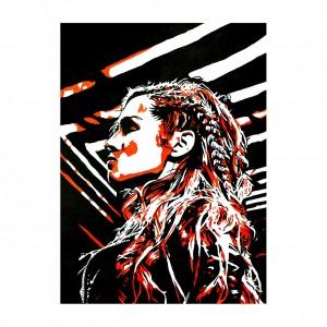 Becky Lynch 2019 11 x 14 Rob Schamberger Art Print