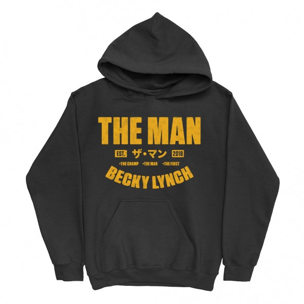 """Becky Lynch """"The Man Est. 2018"""" Youth Pullover Hoodie Sweatshirt"""