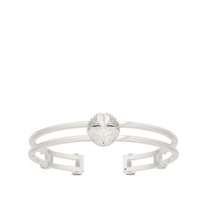 Asuka Bixler Double Band Cuff Bracelet in Sterling Silver
