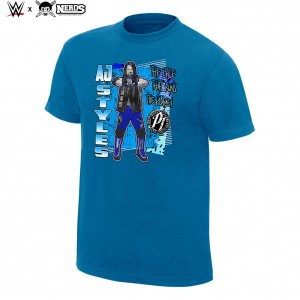 "AJ Styles ""The Face That Runs The Place"" Neon Collection Graphic T-Shirt"