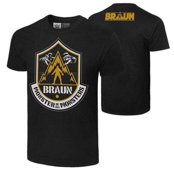 """Braun Strowman """"The Monster of All Monsters"""" Authentic T-Shirt"""