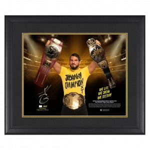 "Johnny Gargano ""First NXT Triple Crown Winner"" Signed 20 x 24 Plaque"