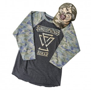 Undisputed Era Camouflage Raglan Baseball Shirt & Hat Set