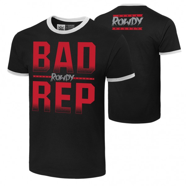 """Ronda Rousey """"Bad Rep"""" Authentic T-Shirt"""