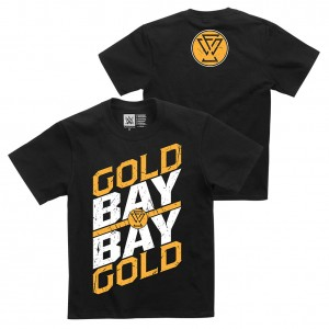 "Adam Cole ""Gold Gold Bay Bay"" Youth Authentic T-Shirt"