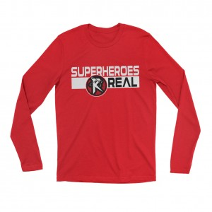 "Ricochet ""Superheroes R Real"" Long Sleeve T-Shirt"