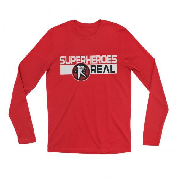 "Ricochet ""Superheroes R Real"" Long Sleeve T-Shirt"