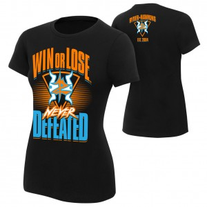 "Zack Ryder & Curt Hawkins ""Never Defeated"" Women's Authentic T-Shirt"