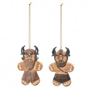 Viking Raiders Gingerbread Ornament Set