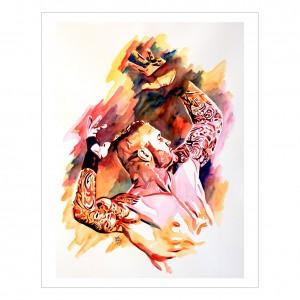 Randy Orton 11 x 14 Rob Schamberger Art Print