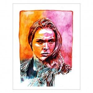 Ronda Rousey 11 x 14 Rob Schamberger Art Print