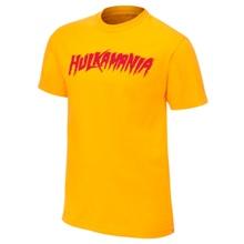 """Hulk Hogan """"Hulkamania"""" Yellow Youth Authentic T-Shirt"""