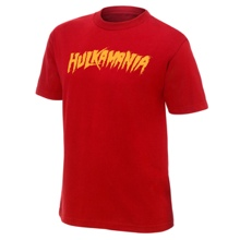 "Hulk Hogan ""Hulkamania"" Red Authentic T-Shirt"