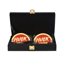 Hulk Hogan WWE World Heavyweight Championship Replica Title Side Plate Box Set
