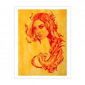 Becky Lynch Rob Schamberger 11 x 14 Art Print