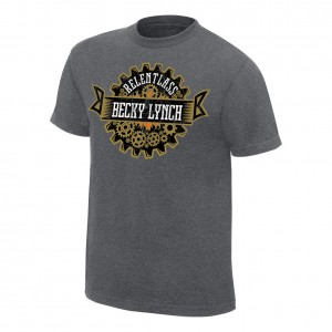 "Becky Lynch ""Relent-Lass"" Grey Youth T-Shirt"