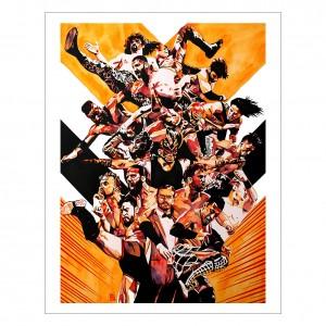 205 Live Roster 11 x 14 Rob Schamberger Art Print