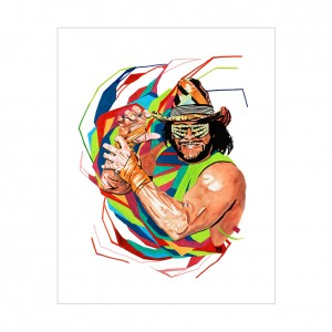 Macho Man Randy Savage Rob Schamberger 11 x 14 Art Print