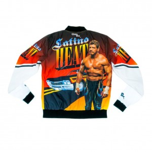 "Eddie Guerrero ""Latino Heat"" Retro Fanimation Chalk Line Jacket"