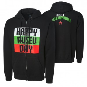 "Rusev ""Happy Rusev Day"" Full Zip Hoodie Sweatshirt"