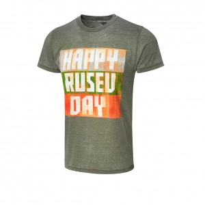 "Rusev ""Happy Rusev Day"" Acid Wash T-Shirt"
